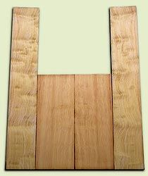 "DFAS07253 - Curly Douglas Fir Acoustic Guitar Back & Side Set, ood Figure, Fine Grain Old Growth, Awesome Tap Tone, OM or Classical size.  2 panels each  .20"" x 8"" x 20"" and 2 panels each  .17"" x 6"" x 36""  S1S  Unusual Guitar Wood"