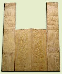 "DFAS07255 - Curly Douglas Fir Acoustic Guitar Back & Side Set, Good Figure, Fine Grain Old Growth, Awesome Tap Tone, OM or Classical size.  2 panels each  .22"" x 8"" x 20.5"" and 2 panels each  .17"" x 6"" x 36""  S1S  Amazing Guitar Wood"