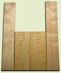 """DFAS07256 - Curly Douglas Fir Acoustic Guitar Back & Side Set, Good Figure, Fine Grain Old Growth, Awesome Tap Tone, OM or Classical size.  2 panels each  .22"""" x 8"""" x 20"""" and 2 panels each  .17"""" x 6"""" x 36""""  S1S  Amazing Guitar Wood"""