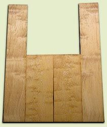 """DFAS07258 - Curly Douglas Fir Acoustic Guitar Back & Side Set, Good Figure, Fine Grain Old Growth, Awesome Tap Tone, OM or Classical size.  2 panels each  .22"""" x 8"""" x 20"""" and 2 panels each  .17"""" x 6"""" x 36""""  S1S  Very Rare Guitar Wood"""