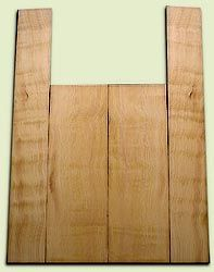 "DFAS07264 - Curly Douglas Fir Acoustic Guitar Back & Side Set, Good Figure, Fine Grain Old Growth, Awesome Tap Tone, Dreadnought size.  2 panels each  .20"" x 8"" x 23.5"" and 2 panels each  .17"" x 6"" x 36""  S1S  Amazing Guitar Wood"