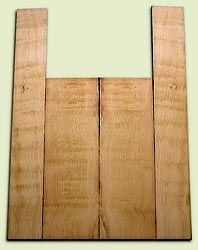 """DFAS07265 - Curly Douglas Fir Acoustic Guitar Back & Side Set, Good Figure, Fine Grain Old Growth, Awesome Tap Tone, Dreadnought size.  2 panels each  .20"""" x 8"""" x 23.5"""" and 2 panels each  .17"""" x 6"""" x 36""""  S1S  Amazing Guitar Wood"""