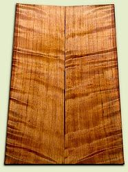 "RWES07900 - Curly Redwood Guitar Top Set for Les Paul or Bass, Medium Figure, Excellent Color, Salvaged Old Growth.  2 panels each .62"" x 8.5"">7.5"" x 24"" S1S  Exceptional Luthier Wood"