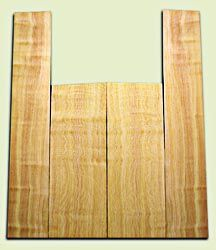 "DFAS08776 - Curly Douglas Fir Acoustic Guitar Back & Side Set, Medium Figure, Excellent Color,  Old Growth, Awesome Tap Tone, Dreadnought size. 2 panels each .18"" x 8.5"" x 23.5"" and 2 panels each .15"" x 6"" x 36"" S1S  Fine Luthier Wood"