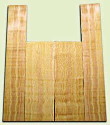 "DFAS08790 - Curly Douglas Fir Acoustic Guitar Back & Side Set, Good to Very Good Figure, Excellent Color,  Old Growth, Awesome Tap Tone, Dreadnought size. 2 panels each .19"" x 8.5"" x 24"" and 2 panels each .19"" x 6"" x 36"" S1S  Fine Luthier Tonewood"