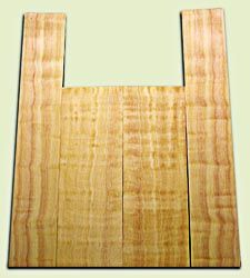 "DFAS08797 - Curly Douglas Fir Acoustic Guitar Back & Side Set, Good to Very Good Figure, Excellent Color,  Old Growth, Awesome Tap Tone, Dreadnought size. 2 panels each .19"" x 8.5"" x 24"" and 2 panels each .19"" x 6"" x 36"" S1S  Eco-Friendly Tonewood"