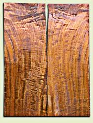"""WAES08932 - Claro Walnut Solid Body Guitar or Bass Top Set, Medium to Good Figure, Excellent Color, Salvaged Old Growth, minor thickness irregularity, clean layout.  2 panels each .19"""" x 8.75"""" x 24"""" S1S excellent Guitar Wood"""