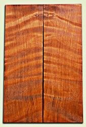 "RWES09237 - Curly Redwood Guitar Top Set for Les Paul or Bass, Good Figure, Excellent Color, Salvaged Old Growth. 2 panels each .68"" x 7"" x 22"" S1S  Superb Guitar wood"