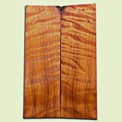 "RWES09240 - Curly Redwood Guitar Top Set for Les Paul or Bass, Very Good Figure, Excellent Color, Salvaged Old Growth. 2 panels each .68"" x 7"" x 22"" S1S  Choice Guitar Tonewood"