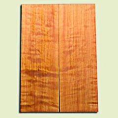 "RWES09525 - Curly Redwood Solid Body Guitar Top Set, Light to Medium Figure, Fine Grain Salvaged Old Growth, Strat  size. 2 panels each .24"" x 6.75"" x 19.75"" S1S amazing Guitar Wood"