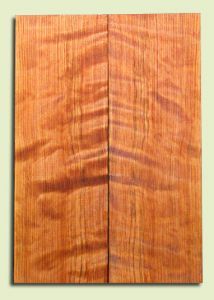 "RWES09528 - Curly Redwood Solid Body Guitar Top Set, Medium Figure, Fine Grain Salvaged Old Growth, Strat  size. 2 panels each .24"" x 6.75"" x 19.75"" S1S amazing Guitar Wood"