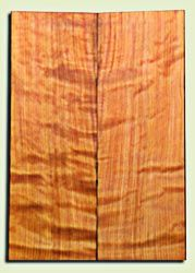 "RWES09531 - Curly Redwood Solid Body Guitar Top Set, Medium Figure, Fine Grain Salvaged Old Growth, Strat  size. 2 panels each .24"" x 6.75"" x 19.75"" S1S amazing Guitar Wood"