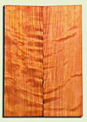 "RWES09532 - Curly Redwood Solid Body Guitar Top Set, Medium Figure, Fine Grain Salvaged Old Growth, Strat  size. 2 panels each .24"" x 6.75"" x 19.75"" S1S amazing Guitar Wood"