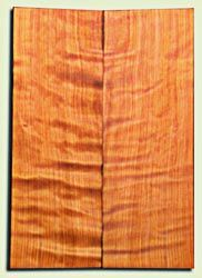 "RWES09533 - Curly Redwood Solid Body Guitar Top Set, Medium Figure, Fine Grain Salvaged Old Growth, Strat  size. 2 panels each .24"" x 6.75"" x 19.75"" S1S amazing Guitar Wood"