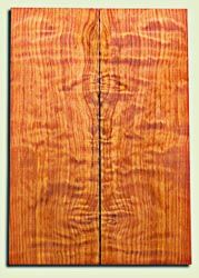 "RWES09539 - Curly Redwood Solid Body Guitar Top Set, Medium Figure, Fine Grain Salvaged Old Growth, Strat  size. 2 panels each .24"" x 6.75"" x 19.75"" S1S amazing Guitar Wood"