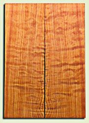 "RWES09545 - Curly Redwood Solid Body Guitar Top Set, Medium Figure, Fine Grain Salvaged Old Growth, Strat  size. 2 panels each .24"" x 6.75"" x 19.75"" S1S amazing Guitar Wood"