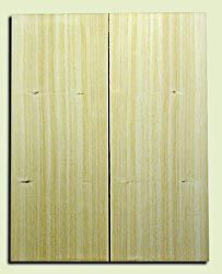 "CDSB09979 - Port Orford Cedar Solid Body Guitar Drop Top Set, Fine Straight Grain, Salvaged Old Growth,  . 2 panels each .20"" x 8.5"" x 21.7"" S1S Fine Guitar Wood"